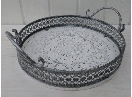 Deko Tablett Romantica Durchmesser 28 cm