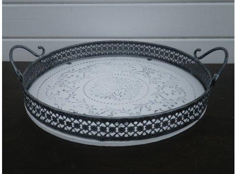 Deko Tablett Romantica rund Durchmesser 37 cm groß