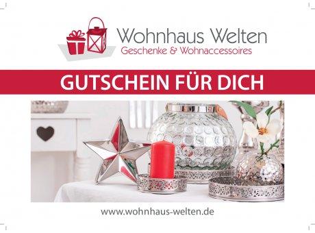 Geschenk Gutschein Wohnhaus Welten