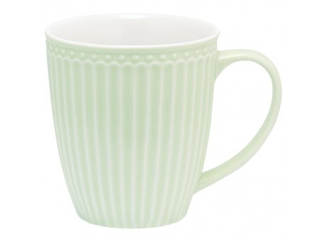 Greengate Becher ALICE Grün Kaffeebecher mit Henkel Everyday Geschirr Pale Green 400 ml Greengate Produkt Nr STWMUGAALI3906