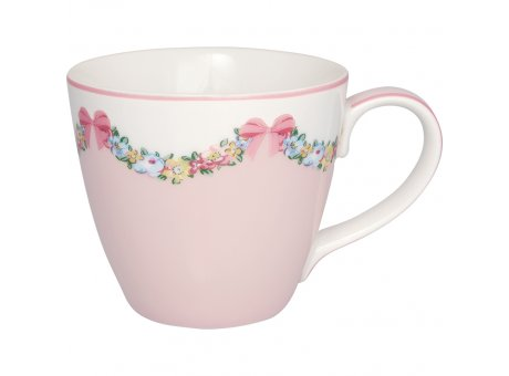 Greengate Becher MAYA Pale Pink Rosa Weiss mit Blumen Porzellan Henkel Tasse 300 ml Greengate Design Nr STWMUGMYA1906
