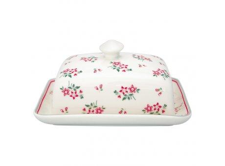 Greengate Butterdose ELOUISE Weiss Blumen Porzellan Dose mit Deckel GG Produkt Nr STWBUTSELO0104