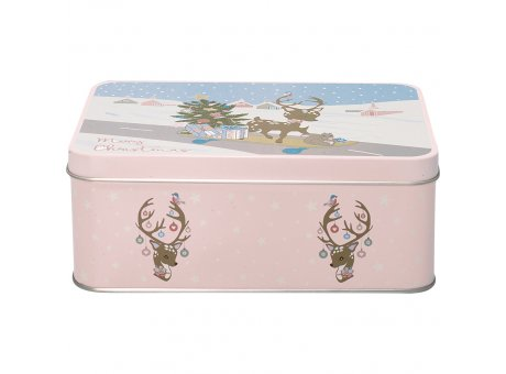Greengate Dose BAMBI Pale Pink Rosa mit Deckel aus Metall 13x18 cm Greengate Blechdose Nr TINRECBAM1906