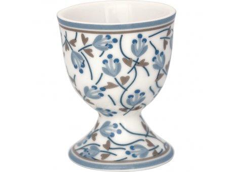 Greengate Eierbecher ADDISON Weiss Porzellan mit Blumen in Blau 40ml Greengate Produkt Nr. STWEGCADD0106