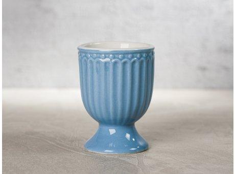Greengate Eierbecher ALICE Blau Everyday Keramik Geschirr Sky Blue 40ml Rillenmuster Hygge für jeden Tag