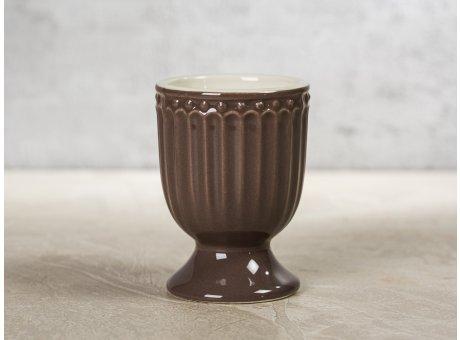 Greengate Eierbecher ALICE Braun dunkelbraun Everyday Keramik Geschirr Dark Chocolate 40ml Rillenmuster Hygge für jeden Tag