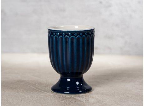 Greengate Eierbecher ALICE Dunkelblau Everyday Keramik Geschirr Dark Blue 40ml Rillenmuster Hygge für jeden Tag
