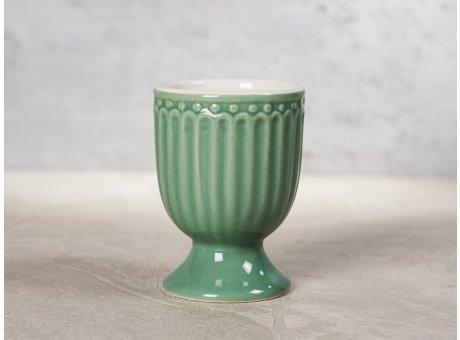 Greengate Eierbecher ALICE Grün Everyday Keramik Geschirr Dusty Green 40ml Rillenmuster Hygge für jeden Tag