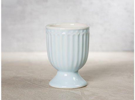 Greengate Eierbecher ALICE Hellblau Everyday Keramik Geschirr Pale Blue 40ml Rillenmuster Hygge für jeden Tag