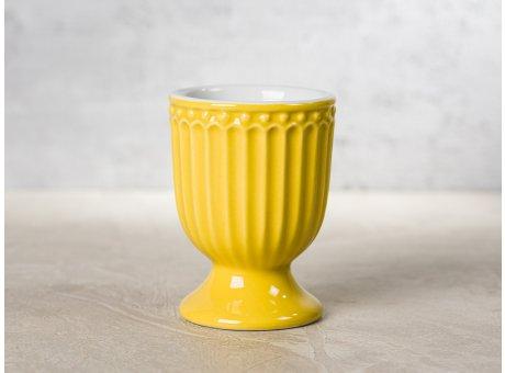 Greengate Eierbecher ALICE Senf Gelb Everyday Keramik Geschirr Honey Mustard 40ml Rillenmuster Hygge für jeden Tag