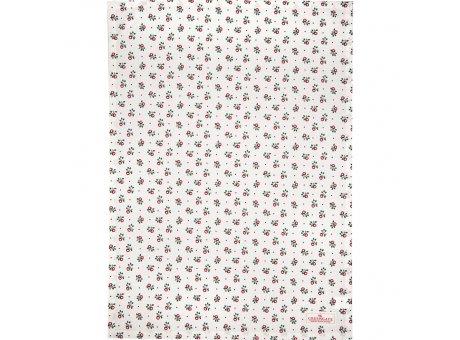 Greengate Geschirrtuch ABI PETIT Weiss mit Blumen Baumwolle 50x70 Greengate Geschirrhandtuch Nr COTTEAABP0112