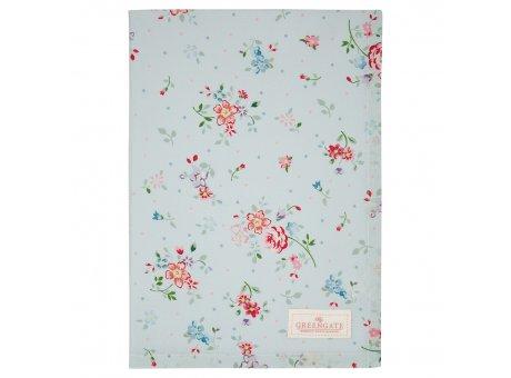 Greengate Geschirrtuch BELLE Pale Blue Blau mit Blumen Baumwolle 50x70 Greengate Produkt Nr COTTEABLL2912