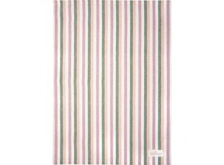 Greengate Geschirrtuch CALLIE Dusty Rose Rosa mit Streifen Baumwolle 50x70 Greengate Geschirrhandtuch Nr COTTEACAL1112