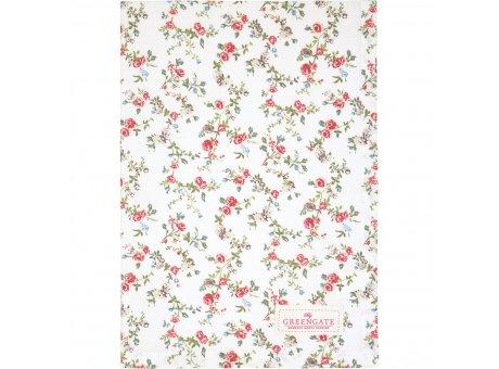 Greengate Geschirrtuch CARLY Weiss mit Blumen Baumwolle 50x70 Greengate Produkt Nr COTTEACLY0112
