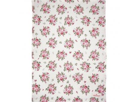 Greengate Geschirrtuch CHARLINE Weiss mit Blumen Baumwolle 50x70 Greengate Geschirrhandtuch Nr COTTEACHN0112