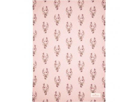 Greengate Geschirrtuch DINA Pale Pink Rosa Bambi Baumwolle 50x70 Greengate Geschirrhandtuch Nr COTTEADIN1912