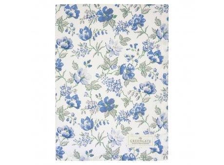 Greengate Geschirrtuch DONNA Blau Weiss mit Blumen Baumwolle 50x70 Greengate Produkt Nr COTTEADON2512