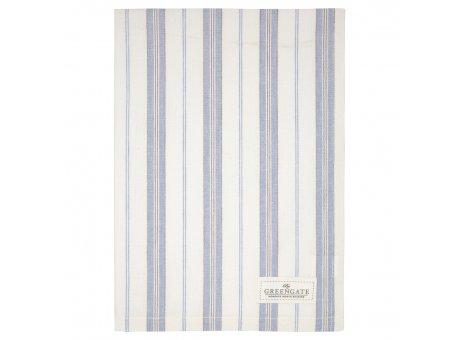 Greengate Geschirrtuch ELINOR Pale Grey mit Streifen Grau Weiss Baumwolle 50x70 Greengate Produkt Nr COTTEAELI8512