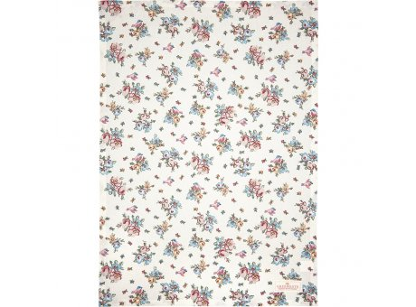 Greengate Geschirrtuch ELLIE Weiss mit Blumen und Vögeln Baumwolle 50x70 Greengate Geschirrhandtuch Nr COTTEAEIE0112