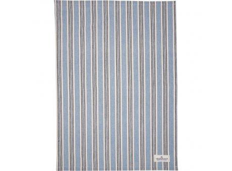 Greengate Geschirrtuch IVAH Blau mit Streifen Baumwolle 50x70 Greengate Geschirrhandtuch Nr COTTEAIVS2512