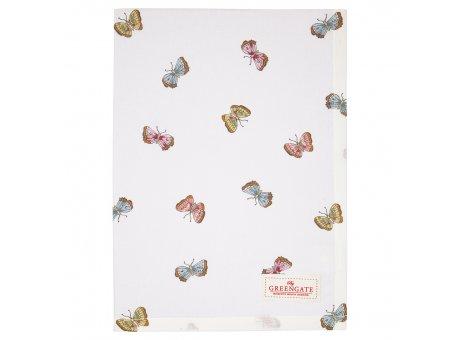 Greengate Geschirrtuch MAISIE Weiss mit Schmetterlingen Baumwolle 50x70 Greengate Produkt Nr COTTEAMSI0112