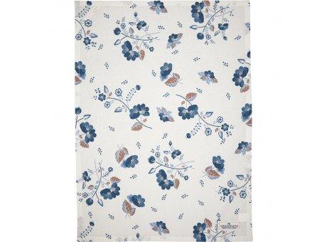 Greengate Geschirrtuch MOZY Weiss mit blauen Blumen Baumwolle 50x70 Greengate Geschirrhandtuch Nr COTTEAMOZ0112