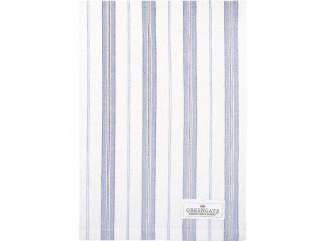 Greengate Geschirrtuch NICOLA Pale Blue Weiss Blau mit Streifen Baumwolle 50x70 Greengate Geschirrhandtuch Nr COTTEANIL2912