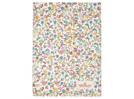 Greengate Geschirrtuch SOPHIA Weiss mit kleinen bunten Blumen Baumwolle 50x70 Greengate Produkt Nr COTTEASOA0112