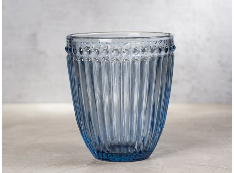 Greengate Glas Alice Blau Everday Wasserglas Pale Blue Design Trinkglas 300 ml