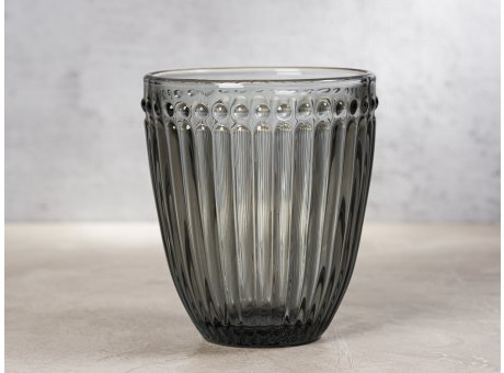 Greengate Glas Alice Grau Everday Wasserglas Design Trinkglas 300 ml