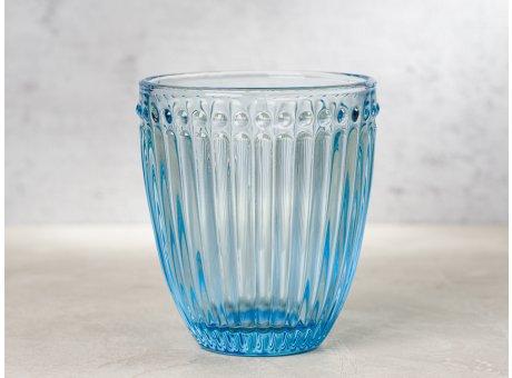 Greengate Glas Alice Hellblau Blau Everday Wasserglas Pale Blue Design Trinkglas 300 ml