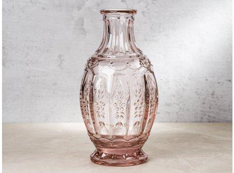 Greengate Glas Krug NOSTALGIA Pale Pink Rosa Vase Karaffe im Vintage Design 1000 ml