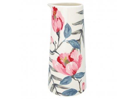 Greengate Krug Magnolia weiß Kanne mit Blumen 700 ml Porzellan Geschirr
