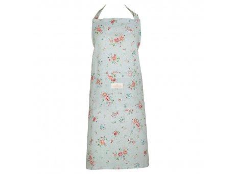 Greengate Küchenschürze BELLE Pale Blue mit Blumen Baumwolle Schürze Blau Greengate Produkt Nr COTAPRBLL2904