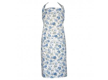 Greengate Küchenschürze DONNA Blau mit Blumen Baumwolle Schürze Greengate Produkt Nr COTAPRDON2504