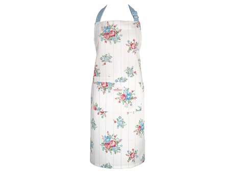 Greengate Küchenschürze HENRIETTA Weiss mit Blumen Baumwolle Schürze Greengate Produkt Nr COTAPRHET0104