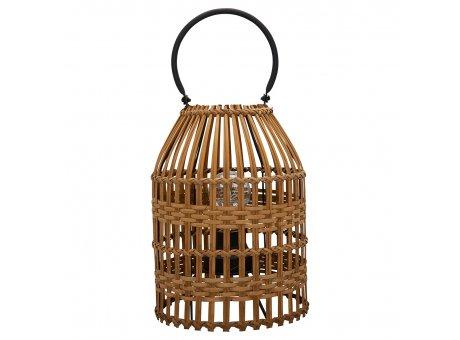 Greengate Laterne Weide Natur 27 cm Medium mit LED Licht Greengate Lampe Nr WILLANM0801