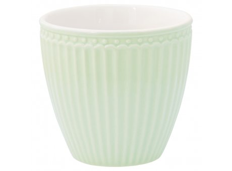 Greengate Latte Cup ALICE Grün Kaffee Becher Everyday Geschirr Pale Green 300 ml Greengate Produkt Nr STWLATALI3906