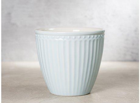 Greengate Latte Cup ALICE Hellblau Kaffee Becher Everyday Keramik Geschirr Pale Blue 300 ml Rillenmuster Hygge für jeden Tag