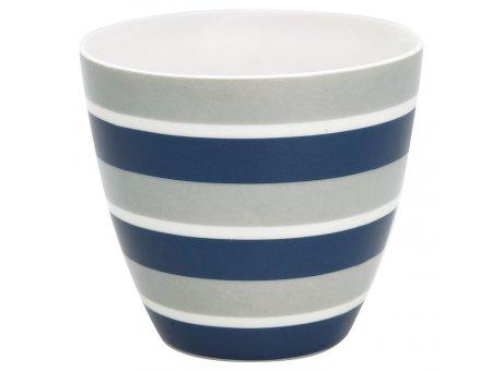 Greengate Latte Cup Becher ALYSSA Blau Grau Streifen GG Produkt Nr STWLATALY2506