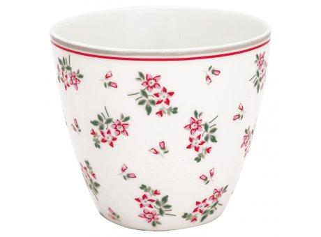 Greengate Latte Cup Becher AVERY Weiss Blumen GG Produkt Nr STWLATAVY0106