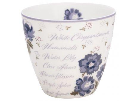 Greengate Latte Cup Becher BEATRICE Weiss Blumen GG Produkt Nr STWLATBTC0106