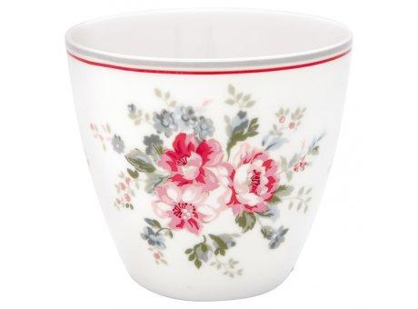 Greengate Latte Cup Becher ELOUISE Weiss Rot Blumen GG Produkt Nr STWLATELO0106