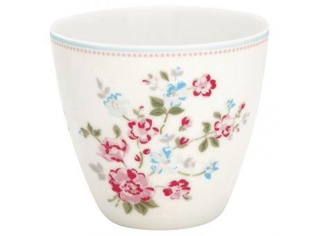 Greengate Latte Cup Becher SONIA Weiss mit Blumen GG Produkt Nr STWLATSOI0106