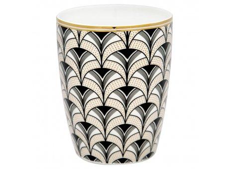 Greengate Latte Cup ESME Gate Noir Becher aus Porzellan 400ml Greengate Produkt Nr. STWLATGNESM9906