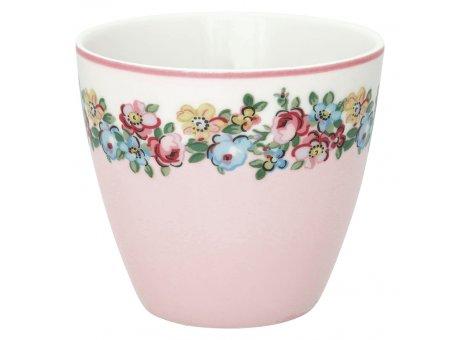 Greengate Latte Cup Madison Rosa Weiss Porzellan Tasse mit Blumen 300 ml Greengate Becher Design Nr STWLATMDS0106