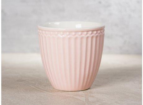 Greengate Latte Cup Mini ALICE Rosa Kaffee Becher Everyday Geschirr aus Keramik Pale Pink 100 ml Hygge für jeden Tag