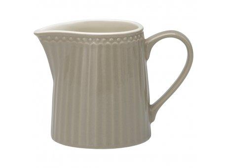 Greengate Milchkännchen ALICE Grau Everyday Geschirr Warm Grey Creamer Greengate Produkt Nr STWCREAALI8306