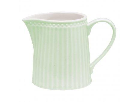 Greengate Milchkännchen ALICE Grün Everyday Geschirr Pale Green Creamer hellgrün Greengate Produkt Nr STWCREAALI3906