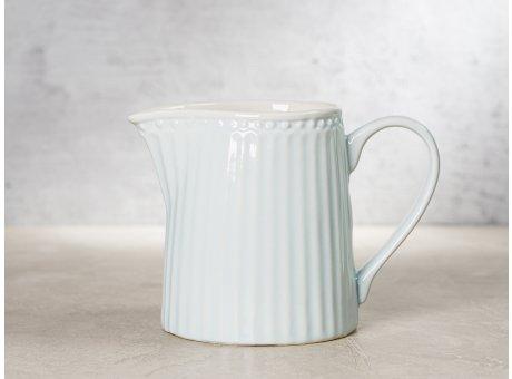Greengate Milchkännchen ALICE Hellblau Everyday Keramik Geschirr Pale Blue Creamer Rillenmuster Hygge für jeden Tag